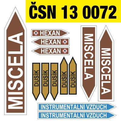 Značení podle ČSN-130072
